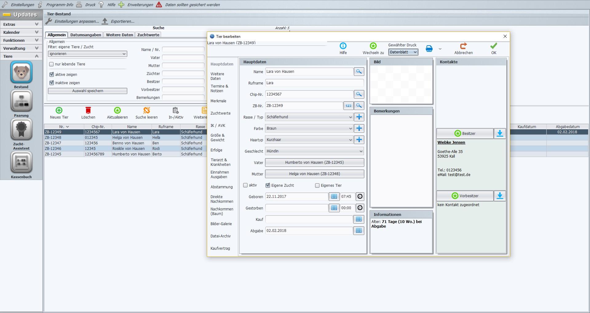 Stammbaum software ahnentafel programm f r z chter viele for Programm fur kuchenplanung